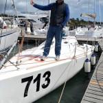 Richard on His Boat